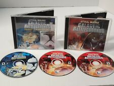 Star Wars Galactic Battlegrounds & Clone Campaigns Expansion Computer Lot - PC
