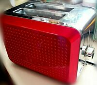 Bella Dots Red 2 Slice Electric TOASTER New- Open Box