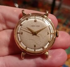 Vintage 1953 Hamilton Fleetwood Men's Watch Solid 14k Gold