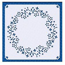 Flexible Stencil *SPRING WREATH * Embossing Inking Card Making 14.5cm x 14.5cm