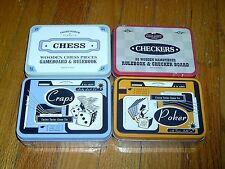 NEW IN BOX - FRONT PORCH CLASSICS -LOT OF 4-CHESS & CHECKERS & CRAPS & POKER