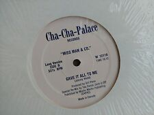 """Miss Man & Co. """"Gave It All To Me"""" Vinyl LP Record Album Canada Promo W12110"""
