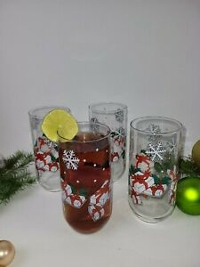 Christmas Gifts Holiday Theme Tumblers Glassware Set of 4