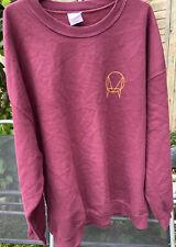 Mens Gildan sweatshirt size 2XL Maroon long sleeve top With Logo