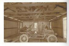 Early Auto In Garage RPPC
