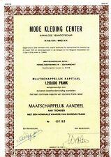 MODE KLEDING CENTER MKC N.V.                                  2
