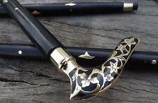 Victorian Brass Antique Handle Head VICTORIAN Style Designer Walking Stick Cane