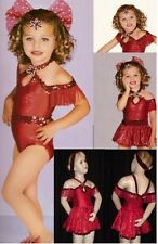 Hey Daddy Dance Costume Leotard and Swing Skirt Jazz Tap Clearance Child X-Small