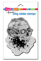 Stampendous Cling Steampunk Skull Rubber Stamp **FREE P&P**