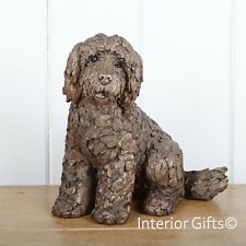 LUCY COCKAPOO SITTING Bronze Frith Sculpture Puppy Dog AT036 Adrian Tinsley