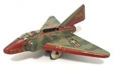 Vintage 1950s USAF P88 FIGHTER JET Airplane LITHO Tin Toy FRICTION Japan Mizuno