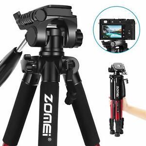 ZOMEi Z666 Pro Aluminium Tripod Pan Head Travel For DSLR Sony Nikon Canon Camera
