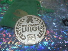 Super Mario Nintendo Club Luigi 30th Anniversary Coin - RARE!! - Gold Game Coin