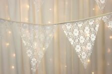 Traditional Ivory Lace Bunting - 5 Metres - Vintage Style Weddings - Baby Shower