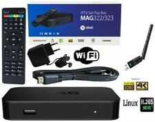 MAG 322(MAG 254) HEVC 265 4K INFOMIR ORIGINALE STREAMING IPTV FULL HD + WIFI