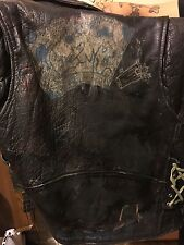 Vintage Punk Rock Leather Vest