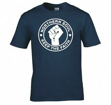 "NORTHERN SOUL ""KEEP THE FAITH"" T SHIRT NEW"