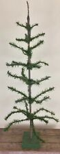 Vintage Artificial Christmas Tree Wire Paper Plastic Hand Made 41� Tall Maine