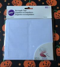 Wilton Rectangle Tags: Includes 80 Rectangle Tags & 3 Test Sheets