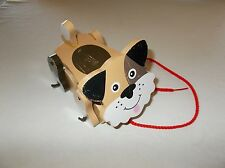 Quality Melissa & Doug wooden wobbling wheeled puppy dog Children's pull toy