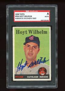 1958 Topps Set Break #324 Hoyt Wilhelm AU819123 Deceased 2002 SGC A AUTH