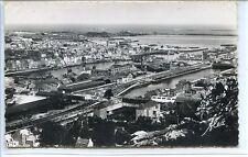 CP 50 Manche - Cherbourg - Panorama sur les Bassins et la Plage n&b