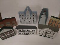 The Cats Meow Village Mixed Series Lot of 7 buildings 1991-1996 wood
