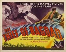 THE THIEF OF BAGDAD Movie POSTER 22x28 Half Sheet B Conrad Veidt Sabu June