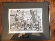 Owen Garratt Limited Edition Drawing Of Drilling Crew On Drilling Rig