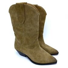 New! ISABEL MARANT Duerto Western Boots Beige Suede Size 38 MSRP $790