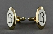Vintage Old English Font Initial R Cuff Links By Hickok Set of 2