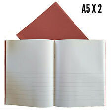 2 X A5 ejercicio Nota Libros Escolares 32 página media 15mm Forrado Media Llano Casa Escuela