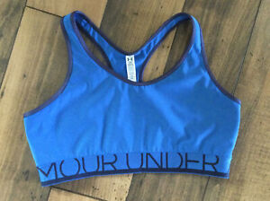Women's Under Armour Workout Sports Bra ..Size Large ..Blue And Black