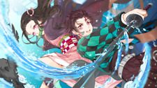 Anime Demon Slayer Kimetsu no Yaiba Nezuko  Silk Poster Wallpaper 24 X 13 inches