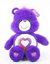 CARE BEARS large RAINBOW HEART 50cm plush soft toy 35th Anniversary Edition NEW!