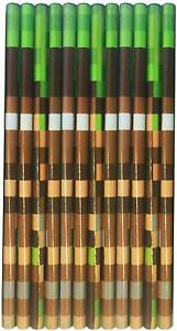 12 x Camouflage Pixel Design HB Pencils Ideal Party Bag Fillers Gamer Gifts