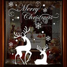 Christmas Reindeer Mural Removable Wall Sticker Decal Home Shop Window Decor DIY