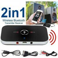 2IN1 Bluetooth 5.0 Transmitter Receiver Wireless Audio 3.5mm USB Aux Adapter AU.
