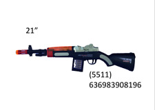 """Light Up Combat Rifle Toy Battery Operated  With Sound And Light 21"""" Long-8196"""