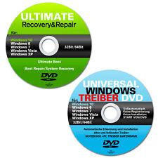 Recovery & Repair und Treiber CD DVD für Windows 7 & 8 ,10 & XP✔