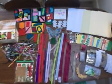 Selection of craft items: Cardboard, ribbon, labels, felt, Butterfly and more