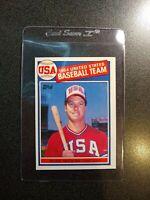 1985 Topps Mark McGwire #401 Baseball Card Rookie Card USA Olympic Team