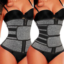 AU Gym Waist Trainer Sauna Sweat Belt Tummy Control Girdle Slimming Body Shaper
