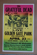 The Grateful Dead Concert Tour Poster 1972 San Fran