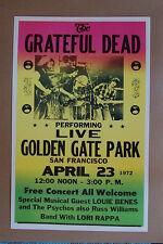 The Grateful Dead Concert Tour Poster 1972 San Fran Grad