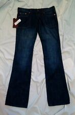 Frankie B Rosarito Women's Faded Blue Denim Designer Jeans Size 6 New With Tags