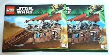 LEGO Star Wars Jabba's Sail Barge Instruction Booklets 75020 manuals lot of 2