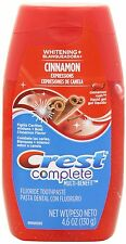 4pc 4.6oz Crest Complete Toothpaste Liquid Gel Fluoride Cinnamon Fights Cavities