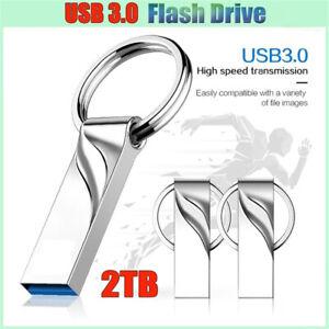 USB3.0 Flash Drive 2 TB High-Speed Data Memory Storage Thumb Stick For Laptop PC