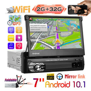 "1 Din 7"" Android 10.1 Autoradio 2G+32G GPS Bluetooth WiFi Mirror Link MP5 Player"